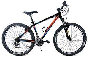 'Vélo VTT aluminium 27,5«Adriatique» Wing RCK amortie–Dérailleur Shimano 18V–Noir/Orange/Bleu