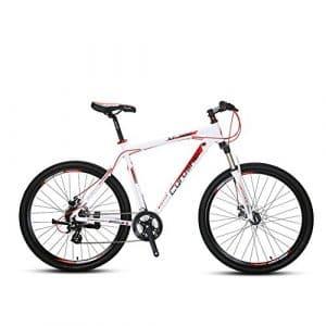Vélo Tout Terrain 27.5 » x 19 » Extrbici® VTT Cyrusher Vélo de Montagne avec Suspension de la Fourche et Frein Mécanique, Cadre en Alliage d'Aluminium, Rouge Blanc (UK STOCK)