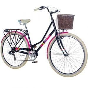 Chill Vélo de ville pour femme, vélo hollandais à 7vitesses, noir/rose